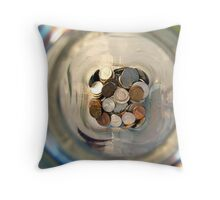 Spare Change.  Throw Pillow