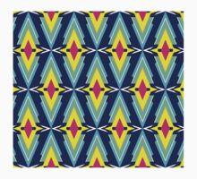 Color Scandinavian Aztec Pattern One Piece - Short Sleeve
