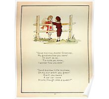 The Glad Year Round for Boys and Girls by Almira George Plympton and Kate Greenaway 1882 0029 Master Greencap Poster