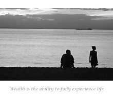wealth is the ability to fully experience life by dentalphotoart