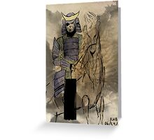Date Masamune Greeting Card