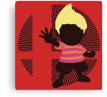 Lucas (Smash 4 Render, Red Shirt) - Sunset Shores Canvas Print