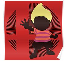 Lucas (Smash 4 Render, Red Shirt) - Sunset Shores Poster