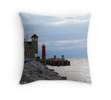 United States Coast Guard Station Throw Pillow