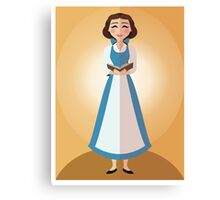 Symmetrical Princesses: Belle Canvas Print
