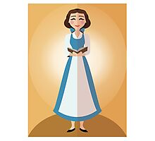 Symmetrical Princesses: Belle Photographic Print