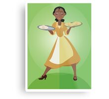 Symmetrical Princesses: Tiana Metal Print