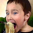 """Noodle Mayhem...or """"Don't Laugh When Your Mouth's Full!"""" by sirthomas1960"""