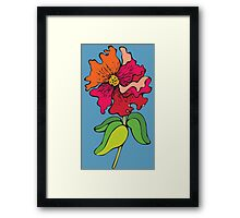 Watercolor colorful flower Framed Print