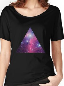 Purple Galaxy Triangle Women's Relaxed Fit T-Shirt