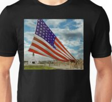 Americana - Fort Hood Texas - Unfolding the flag 1944 Unisex T-Shirt