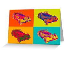 1964 Morgan Plus 4 Convertible Pop Art Greeting Card