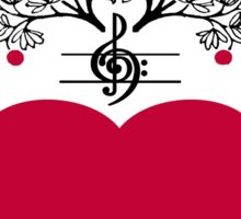 Harmonize The World Heart & Tree Sticker