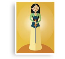 Symmetrical Princesses: Mulan Canvas Print
