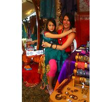 The Colourful Market Girls Photographic Print