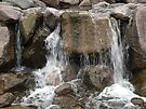 Water Cascading Over Rocks by Barberelli