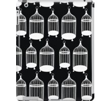 Black & White Bird Cage Pattern iPad Case/Skin