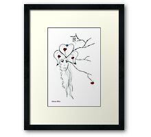 Earth Woman 10 - drawing by Valentina Miletic Framed Print