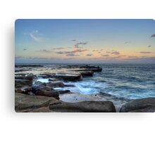 Fishing Sunset Canvas Print
