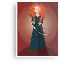 Symmetrical Princesses: Merida Metal Print
