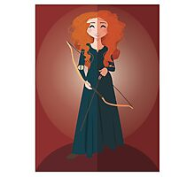 Symmetrical Princesses: Merida Photographic Print