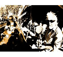 Cafe Mafia Don, IR Photographic Print