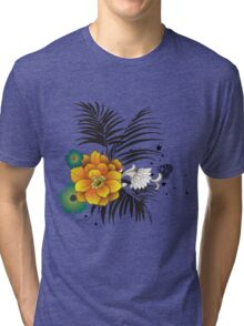 Beautiful yellow and green flowers  Tri-blend T-Shirt
