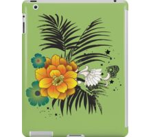 Beautiful yellow and green flowers  iPad Case/Skin