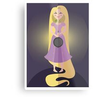 Symmetrical Princesses: Rapunzel Metal Print