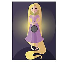 Symmetrical Princesses: Rapunzel Photographic Print