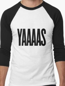 YAAAS Men's Baseball ¾ T-Shirt