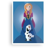 Symmetrical Princesses: Anna Metal Print