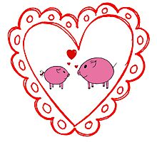 PiGgy in Love! Photographic Print