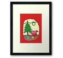 PiGgy is ready for Christmas! Framed Print
