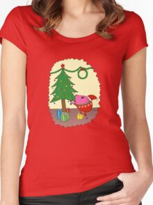 PiGgy is ready for Christmas! Women's Fitted Scoop T-Shirt