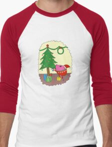 PiGgy is ready for Christmas! Men's Baseball ¾ T-Shirt