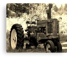 Old Tracter in the country Canvas Print