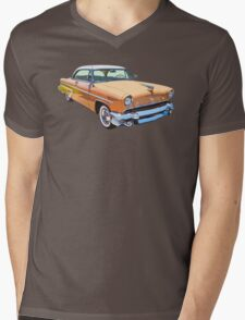 1955 Lincoln Capri Luxury Car Mens V-Neck T-Shirt