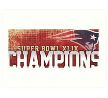 Patriots champions Art Print