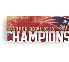 Patriots champions Canvas Print