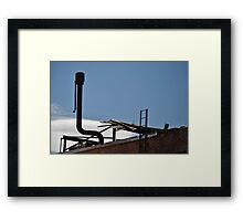 Yes...That is a Door on the Roof Framed Print