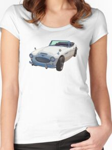 Austin Healey 300 Sports Car Women's Fitted Scoop T-Shirt