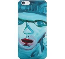 Blue eyes red lips iPhone Case/Skin