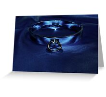 Slave Collar on Blue  Greeting Card