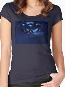 Slave Collar on Blue  Women's Fitted Scoop T-Shirt