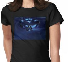 Slave Collar on Blue  Womens Fitted T-Shirt