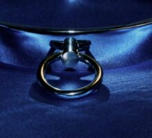 Slave Collar on Blue  Sticker