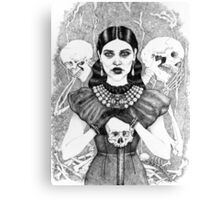 Death & Her Friends - Uncoloured Canvas Print