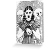 Death & Her Friends - Uncoloured Greeting Card