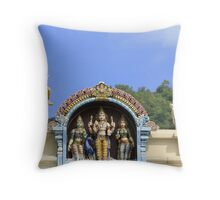 Seychelles Hindu Temple Throw Pillow